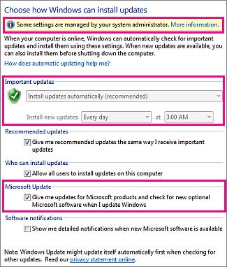 turn off office 2010 updates windows xp
