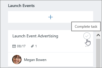 Click the checkmark to complete a task