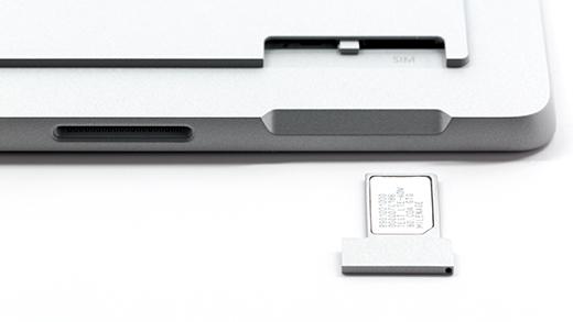 SIM card inserted into SIM card tray