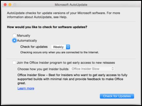 Office for Mac AutoUpdate