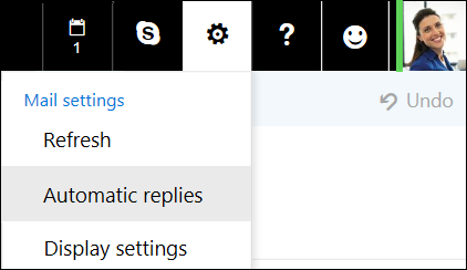 Outlook on the web automatic replies