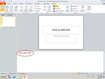 create and print notes pages - powerpoint, Powerpoint templates