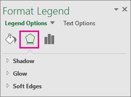 Format Legend Effects task pane
