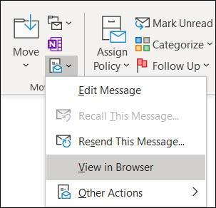 You can open an existing message in Internet Explorer.