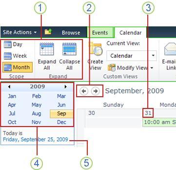 Viewing a calendar