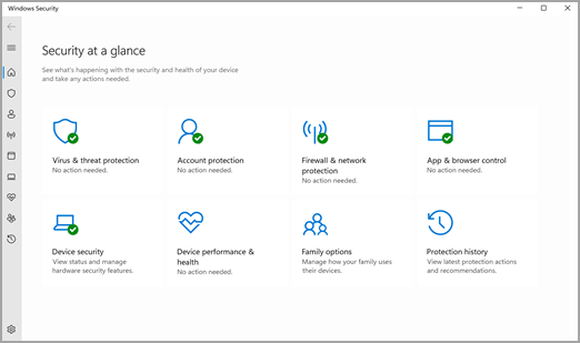 The Windows Security App in Windows 11