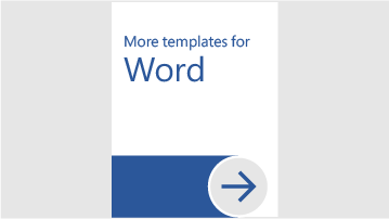 More templates for Word