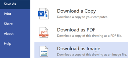 Shows Download as Image option