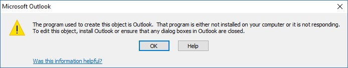 Program not installed