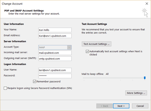 Change or update your email password - Outlook