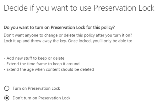 Preservation Lock page