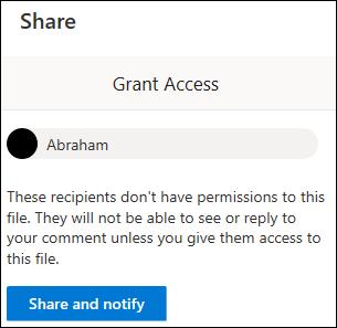 Grant access window.