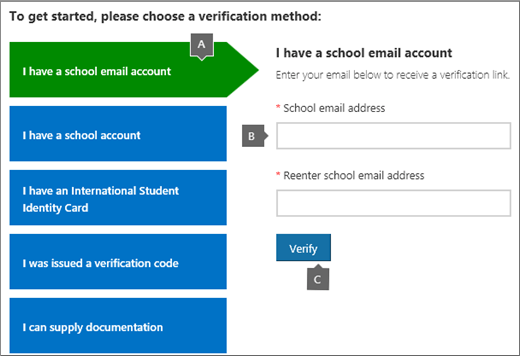 Academic verification page.