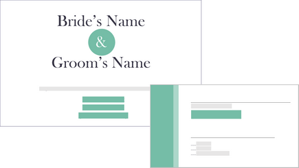 Conceptual image of a wedding invitation and response card