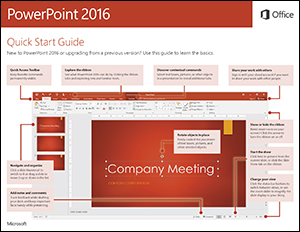 PowerPoint 2016 Quick Start Guide (Windows)