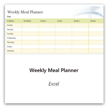 Select this to get the Weekly Meal Planner template.