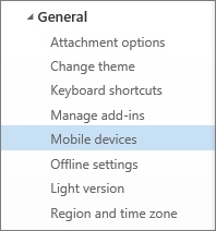 Fix email sync issues or remove a device from your Outlook