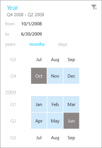Date filter in Power BI mobile app