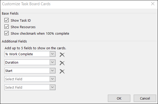 Customize Card configuration settings
