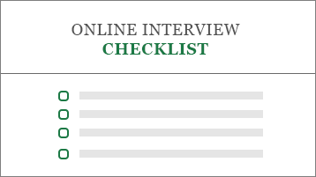 Conceptual image of a job application checklist