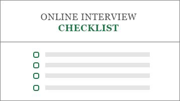 Conceptual image of a job application checklist
