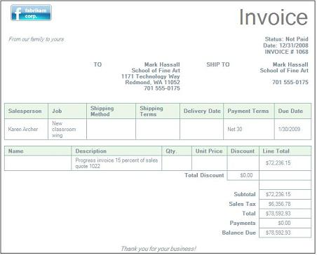 Invoice Template For Word  Free Basic Invoice  FirmsinjaInfo