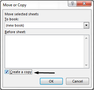 "The ""Create a copy"" check box is at the bottom of the dialog box."