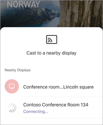Select device when PowerPoint open