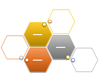 Hexagon Cluster SmartArt graphic layout