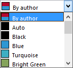 Track Changes, Advanced Options - Common color dropdown