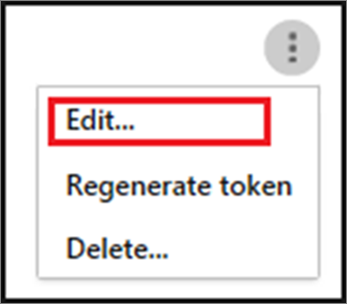 To edit your SIEM agent, choose the ellipses, and then choose Edit.