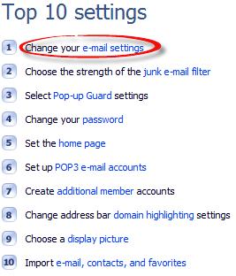 Top 10 settings