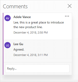 Add, change, hide, or delete comments in a presentation - Office Support