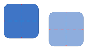 Smart guides help with you equal sizing for objects