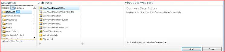 The Web Part Picker shows the Excel Web Access Web Part