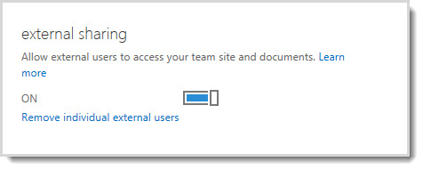 Manage sharing with external users in Office 365 Small Business