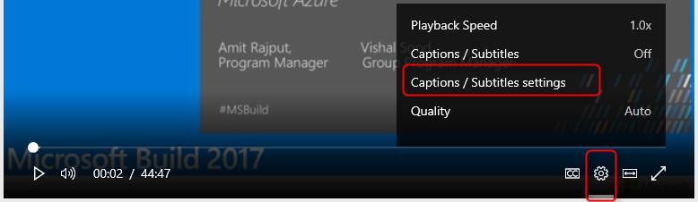 Stream hotkeys captions and settings