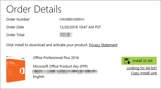 Using product keys with Office - Office Support