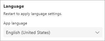 Under App language it says English (United States)