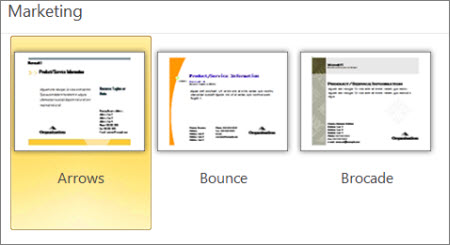Marketing postcard templates for Publisher.