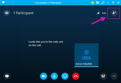 Dial-out with Skype for Business.