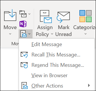 Resend an email message - Outlook