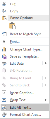 Word Win32 Edit Alt Text menu for charts