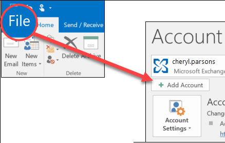 Types Of Email Accounts >> Add An Email Account To Outlook Office Support