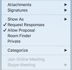 Meeting Menu Skype Meeting Disabled