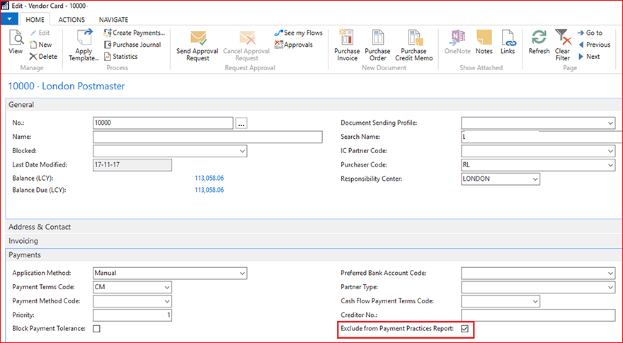 exclude particular Vendor from calculation in report