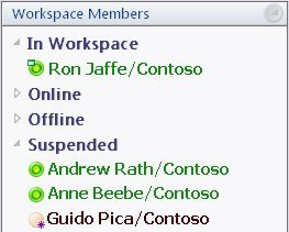 "Members categorized as ""Suspended"" in a workspace created from an archive"
