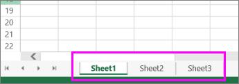 sheet tabs