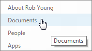Select documents from personal site