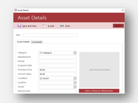 Download Asset Tracking Template